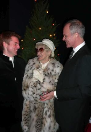 David Shrubsole, Elaine Stritch and Simon Green