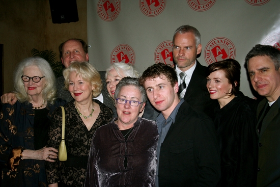 Patricia O'Connell, John C. Vennema, Dearbhla Molloy, Marie Mullen, Garry Hynes, Aaron Monaghan, Martin McDonagh, Kerry Condon and Neil Pepe at THE CRIPPLE OF INISHMAN Celebrates Opening Night