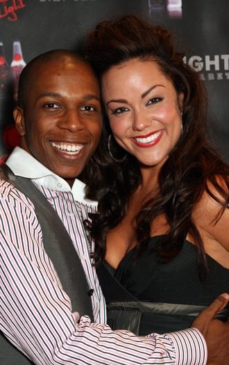 Leslie Odom, Jr and Katy Mixon at UPRIGHT CABARET's Holiday Blowout 2008