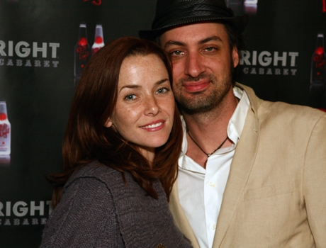 Stephen Full and Annie Wersching at UPRIGHT CABARET's Holiday Blowout 2008