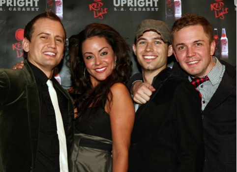 Chris Isaacson, Katy Mixon, Chris Bratten, and Shane Scheel at UPRIGHT CABARET's Holiday Blowout 2008
