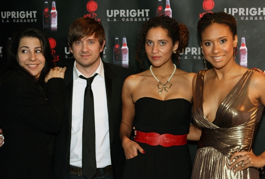 Julie Garnye, Tom Lenk, Talia Theisfield, and Tracie Thoms