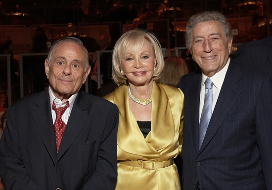 Maurice Kanbar, Iris Cantor and Tony Bennett