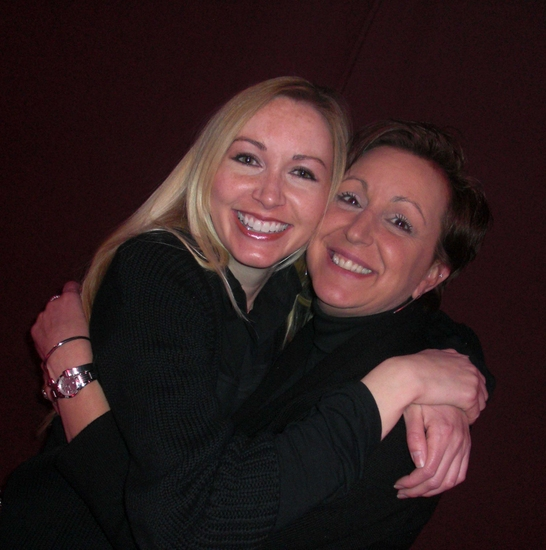 Liza's assistants, Casey Paul and Lisa Zay