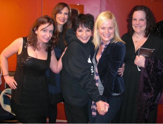 Rachel Dratch, Kristen Wiig, Liza Minnelli, Amy Poehler and Emily Spivey