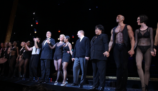R. Lowe, Tom Hewitt, Melora Hardin, Brenda Braxton, Scott Davidson, LaVon Fisher-Wilson, Gregory Butler and Donna Marie Asbury at CHICAGO Welcomes Melora Hardin to Broadway!