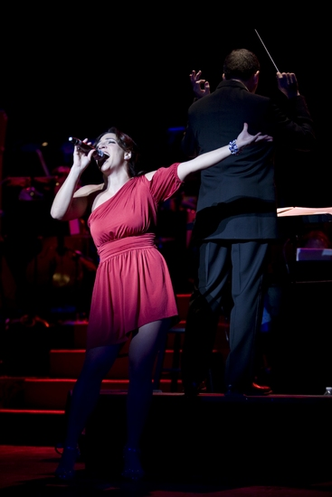 Shoshana Bean and Edward G. Robinson at THE MUSIC OF ANDREW LLOYD WEBBER at the Kennedy Center