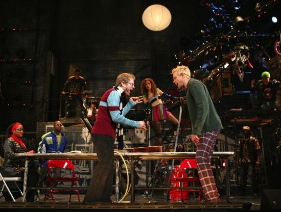 Haneefah Wood, Jacques C. Smith, Anthony Rapp, Lexi Lawson and Adam Pascal
