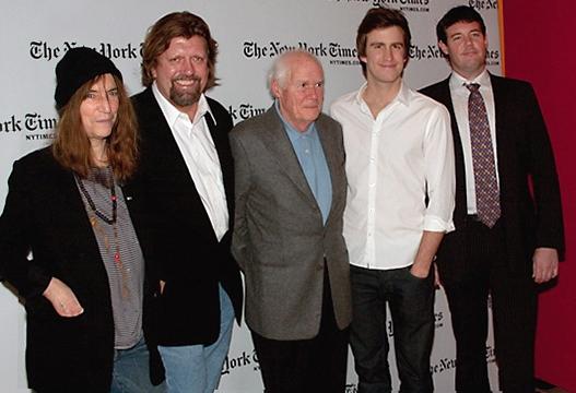 Patti Smith, Oskar Eustis, Galt MacDermot, Gavin Creel, and Patrick Healy
