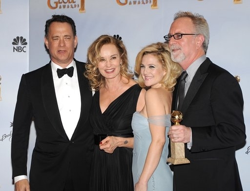 Tom Hanks, Jessica Lange, Drew Barrymore and Gary Goetzman Photo