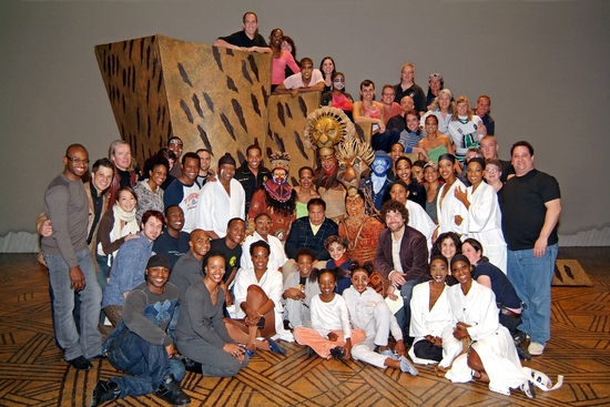 Muhammad Ali and the cast of Disney's The Lion King National Tour.