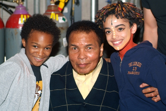 Chaz Marcus Fleming (Young Simba), Muhammad Ali and Marquis Kofi Rodriguez (Young Simba)