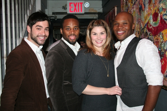 Daniel Torres, Maurice Murphy, Heide Blickenstaff and Michael James Scott at Scott Alan Returns to Birdland