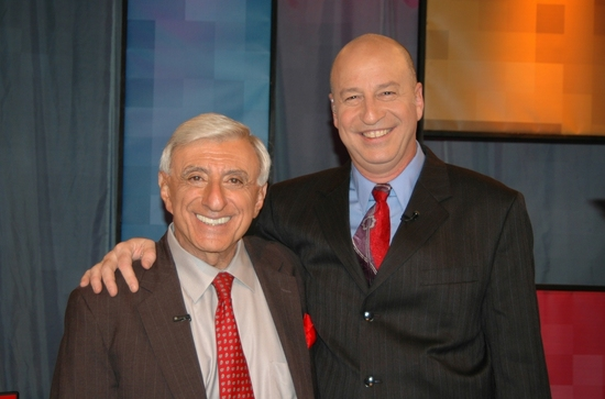 Jamie Farr and David Rubinsohn, WLIW21 Vice President of Programming & Distribution and Station Manager