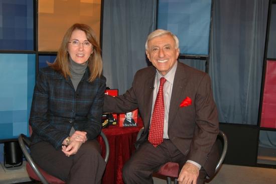 Margaret Bilardello (Volunteer Coordinator at WLIW) and Jamie Farr