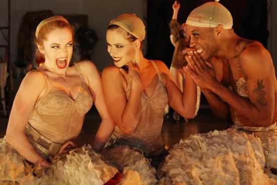 (L-R): Cast members Laura Careless, Yeva Glover and Davon Rainey Photo