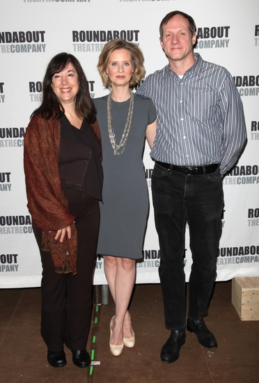 Lisa Loomer, Cynthia Nixon and Mark Brokaw
