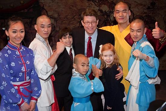 Li Lin, Yu Fei, Robert Nederlander Jr. and family, Wang Sen, Zhang Zhigang and Dong Yingbo