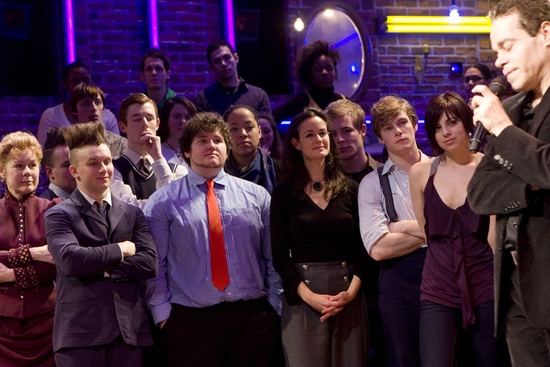 Christine Estabrook, Gerard Canonico, Brian CharLes Johnson, Kimberly Grigsby, Hunter Parrish, Krysta Rodriguez and Steven Sater