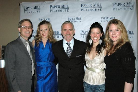 Patrick Parker, Annika Borasm (Hon. Gwendolen Fairfax), Mark S. Hoebee (Artistic Director) Zoe Winters, and Alison Franck