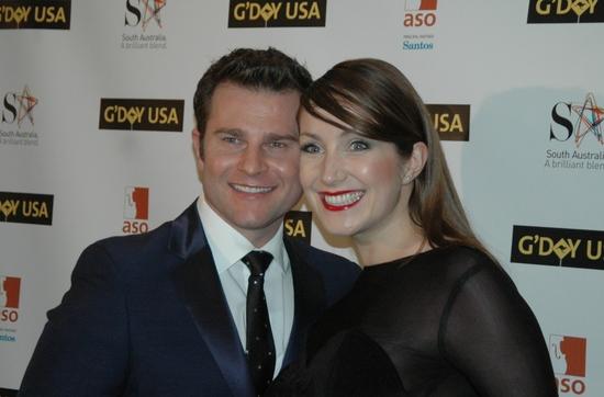 David Campbell and his new bride Lisa