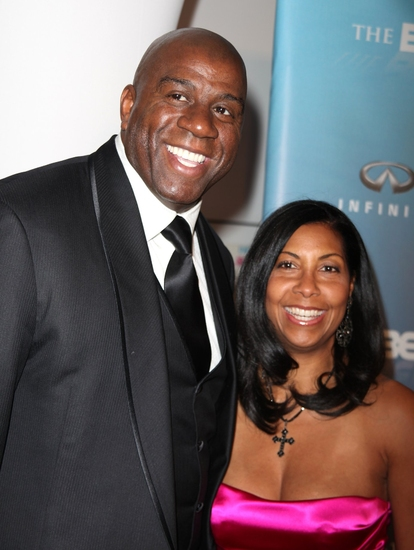 "Earvin  ""Magic"" Johnson and Cookie Johnson"