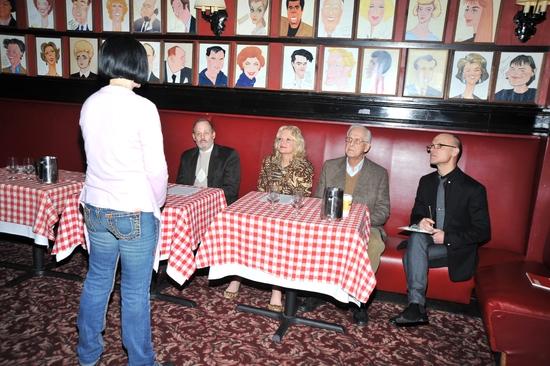 Jackie Barrett, Jeffrey Richards, Christine Ebersole and Michael Blakemore Photo