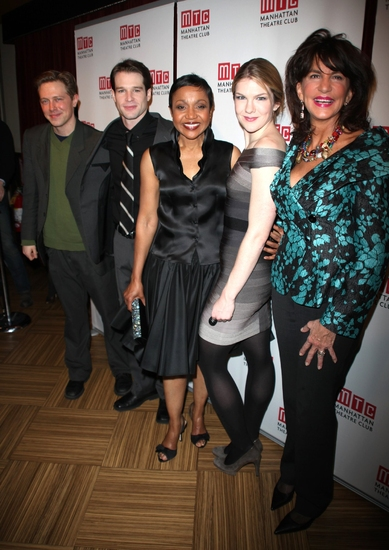 Austin Lysy, Kieran Campion, Brenda Pressley, Lily Rabe and Mercedes Ruehl at THE AMERICAN PLAN - The After Party