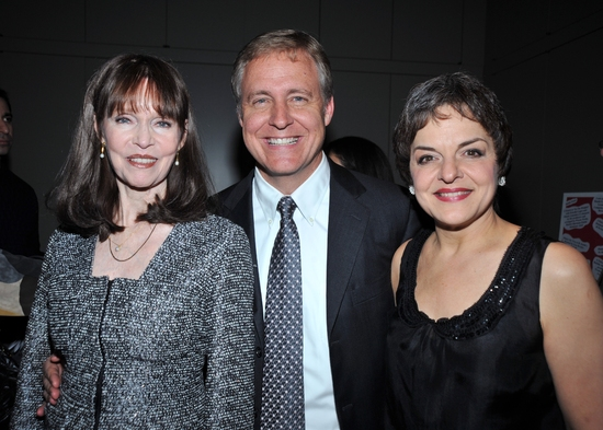 Barbara Feldon, benefit guest and Priscilla Lopez