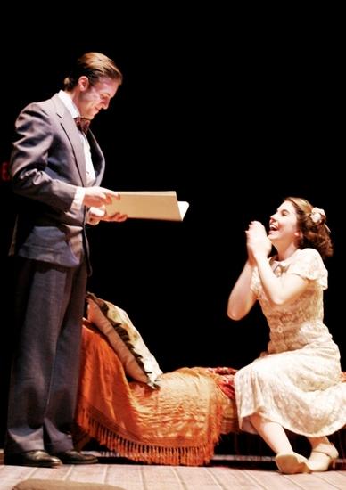 JOHN BRUMMER as the Gentleman Caller and MARIANNE MILLER as Laura (Photo by Jon Gardiner.)