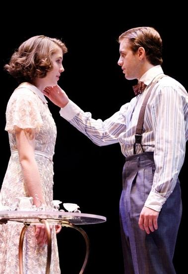 MARIANNE MILLER as Laura and JOHN BRUMMER as the Gentleman Caller (Photo by Jon Gardiner.)