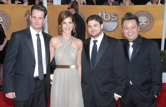 Kevin Dillon, Perrey Reeves, Jerry Ferrara, and Rex Lee   at Screen Actors Guild Awards - The Arrivals