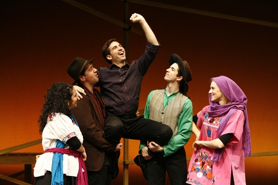 Talia Barzilay as Donna Francisca, Henry Gainza as Don Florencio, Diego Rodriguez as Jos�'© Lim�'³n, Matthew Leddy as Uncle Manuel, and Angela Stellute as Aunt Lupe