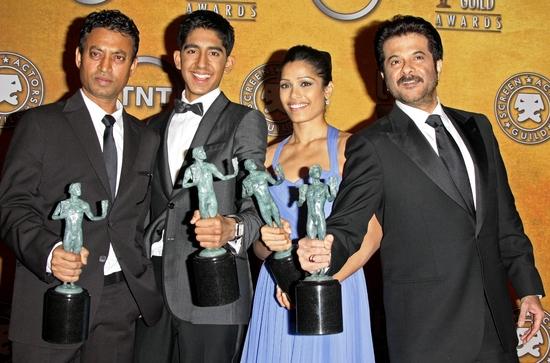 Anil Kapoor, Dev Patel, Freida Pinto and Irrfan Khan