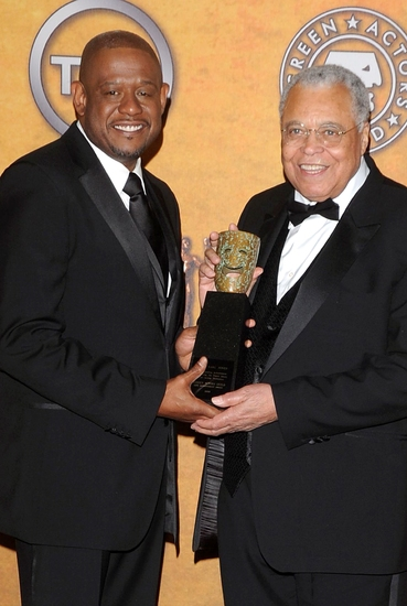 Forest Whitaker and James Earl Jones at The 15th Annual Screen Actors Guild Awards - The Winners!