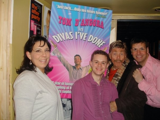 Christine Pedi, Michael Duling, Rip Taylor and Tom D'Angora