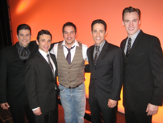 Kristofer McNeeley, Rick Faugno, Tyler Christopher, Jeff Leibow and Erich Bergen