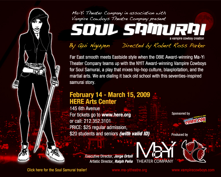 SOUL SAMURAI Takes Us To Post-Apocalyptic Brooklyn 2/14-3/15