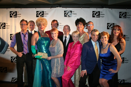 OBC La Cage aux Folles; Front Row: David Engel, Paige Turner (David Scala), Betsy Craig, 