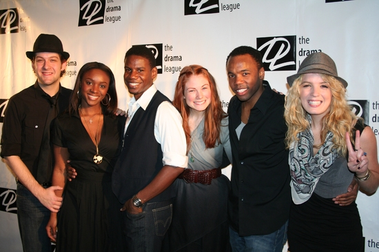 HAIR cast members Andrew Kober, Saycon Sengbloh, Darius Nichols, Allison Case, Tommar Wilson and Kacie Sheik