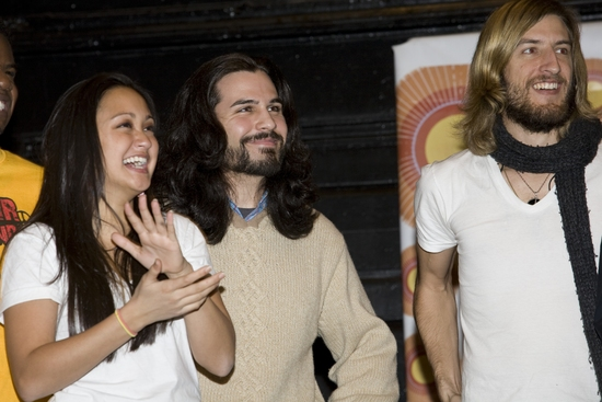 Kaitlin Kiyan, Steel Burkhardt and Bryce Ryness   at HAIR Cast Meets the Press