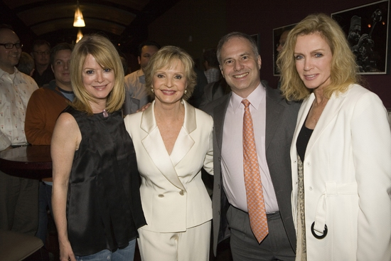 Barbara Chase, Florence Henderson, Glen Roven, and Donna Mills