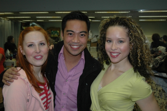 Original Cast Members from the Off Broadway Production of Zanna, Don't! Amanda Ryan Paige, Enrico Rodriquez, and Shelley Thomas