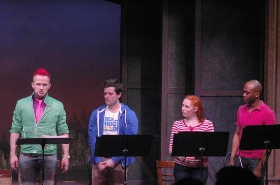 Marty Thomas (Zanna), Steve Pacek (Tank) , Amanda Ryan Paige (Candi), and Troy Valjea Photo