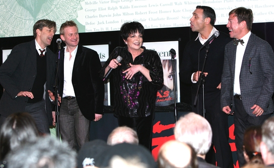 Jim Caruso, Johnny Rodgers, Liza Minnelli, Tiger Martina and Cortes Alexander