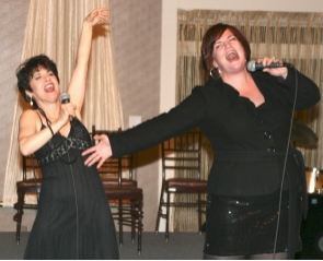 Kathy St. George as Judy Garland and Mary Callanan as Barbra Streisand