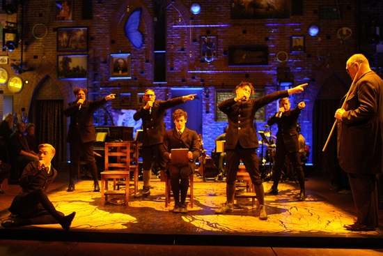 Aneurin Barnard and Iwan Rheon and the cast of Spring Awakening