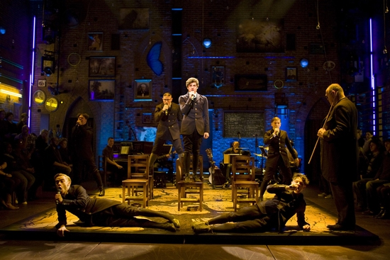 Aneurin Barnard and Iwan Rheon and the cast of Spring Awakening Photo