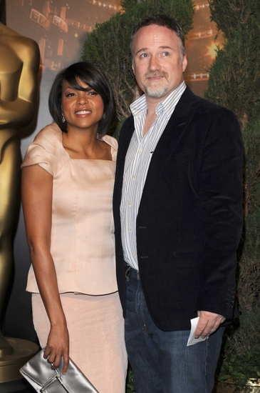 Taraji Henson and David Fincher at 2009 Oscar Nominees Luncheon