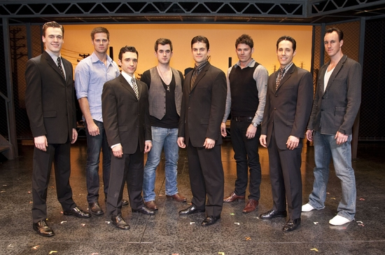 Erich Bergen, Stephen Mahy, Rick Faugno, Bobby Fox, Kristofer McNeeley, Scott Johnson, Jeff Leibow and Glaston Toft, Jersey Boys VEGAS meet the Australian cast!